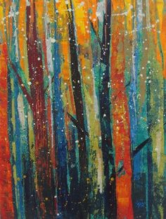 http://www.happyart.in/ Acrylic painting on paper Size: A4 Sparkling Forest
