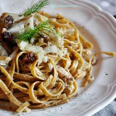Tagliatelle al farro Luciana Mosconi con finocchi e sardine. Ricetta by @lacaccavella  #pasta #lucianamosconi #food #recipe #madeinitaly