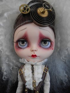 Custom Steampunk Blythe Doll by Spookykidsworkshop on Etsy