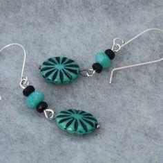 Vintage Bead Dangle Earrings Beaded Earrings by GumboStew on Etsy, $12.00