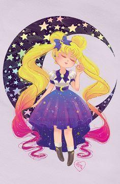"""Usagi / Sailor Moon"" by Joanna ""Aluminum Bunny"" Nagy"