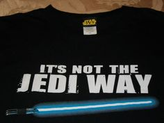 SFB Star Wars Its Not the Jedi Way Mens Black Tshirt XXL 2XL Ex Large Sabre #StarWars #GraphicTee