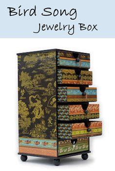 How to: Jewelry Box using Graphic45 Bird Song Collection from Ben Franklin Crafts!