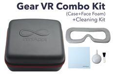 InfiniApps Samsung Gear VR Combo Kit: Semi-Hard Compact Travel Bag + Face Foam Replacement Compatible with ALL generations of Gear VR. • STYLISH DESIGN Gear VR Case: Our Clamshell Gear VR case is also very fashion forward. The Exterior of the Gear VR Life case is a sleek black color while Inside you you will find a lining in a very smooth black color. • MADE SPECIFICALLY FOR Gear VR: Fits like a glove, Compatible with the Samsung Gear VR Virtual Reality Headset + Gamepad Game Controller…