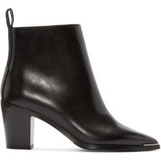 Acne Studios Black Loma Ankle Boots ($395) ❤ liked on Polyvore featuring shoes, boots, ankle booties, black, black boots, black pointed toe boots, black ankle boots, black ankle booties and black pointed toe booties