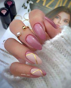 Almond Nails Designs, Black Nail Designs, Cute Nail Designs, Easter Nail Designs, Easter Nail Art, Gold Nails, Pink Nails, Cute Nails, Pretty Nails