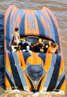 Fun ride but, where are the life jackets? Fast Boats, Cool Boats, Yacht Boat, Boat Dock, Jet Ski, High Performance Boat, Offshore Boats, Life Jackets, Sport Boats