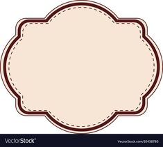Elegant frame decoration isolated vector image on VectorStock Baking Logo Design, Frame Decoration, Label Shapes, Disney Cars Party, Preschool Gifts, Bakery Logo, Picture Logo, Frame Clipart, Label Templates