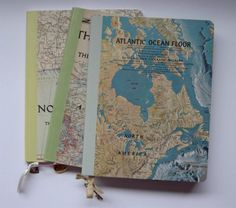 DIY journal covers from maps, magazines, etc. The limit for this is the imagination.