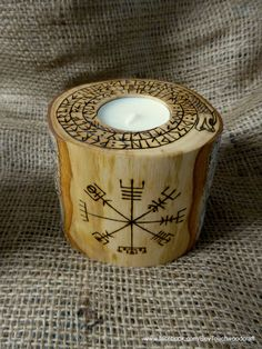 Vegvisir 9 Virtues T-light holder Viking Decor Norse Odin Viking gift Runes Altar Viking Compass Pagan Heathen Asatru. Candle by Touchwoodcraft on Etsy Woodworking For Mere Mortals, Woodworking As A Hobby, Woodworking Projects, Woodworking Jointer, Norse Symbols, Norse Pagan, Mayan Symbols, Egyptian Symbols, Ancient Symbols