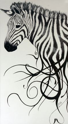 """This is an interesting ideas: would turn the stripes running off the zebra into some word art to try and match up with the """"heart of a lion"""", except I would use the word """"faith"""". Cat Outline, Outline Drawings, Animal Drawings, Zebra Print Tattoos, Zebra Coloring Pages, Free Coloring, Stripe Tattoo, Zebra Pictures, Meaningful Tattoo Quotes"""