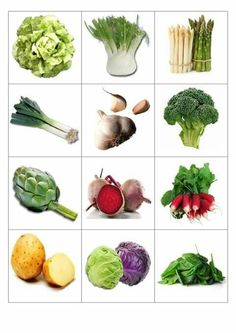 Vegetable Crafts, Picture Dictionary, Learning Colors, Preschool Worksheets, Kids Education, Vegetables, Ethnic Recipes, Plants, Cards
