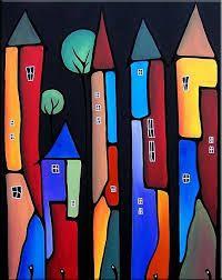 Neighborhood Watch - - by Thomas C. Fedro from Pop Art Gallery Painting For Kids, Painting & Drawing, Tableau Pop Art, Naive Art, Art Portfolio, Whimsical Art, Stone Art, African Art, Rock Art