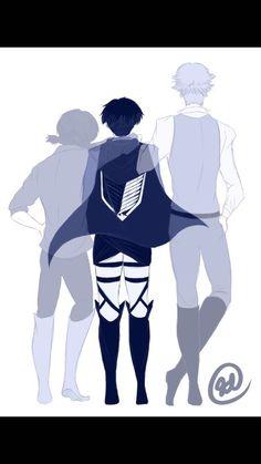 Attack on titan / Shingeki no kyojin Sad Anime, Manga Anime, Anime Art, Attack On Titan Fanart, Attack On Titan Levi, Levi Squad, Eren X Mikasa, Eruri, Sad Art