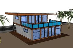 Shipping Container House (Floor Plan) - http://clickbank.dunway.com/affiliate_videos/containers/index.html More