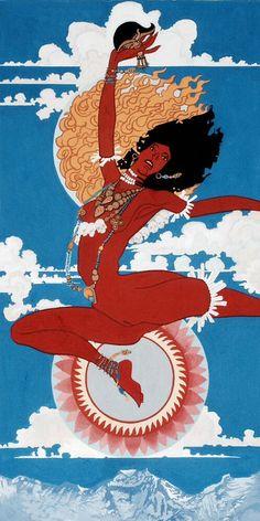 Vam seed sylable dharma et dakinis t Art Tibetan Buddhism, Buddhist Art, Art Visionnaire, Tantra Art, Tibet Art, Mystique, Visionary Art, Sanskrit, Sacred Art