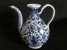 """Very rare Chinese Xuan De Blue & White Bian HU Diameter: 9.5"""""""