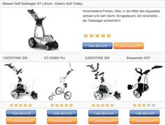 Elektro Golf Trolley - Testsieger Vergleichstabelle
