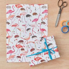 Alice in Wonderland Croquet Gift Wrapping Paper with Flamingos and Hedgehogs Four Sheets by JamesBarkerDraws on Etsy