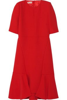 Marni Paneled wool-crepe dress | NET-A-PORTER
