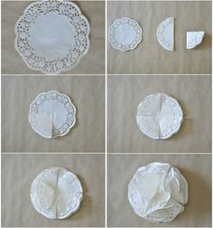 Paper Doily Crafts Paper Doily Crafts Pom Pom Tutorial Craft Projects And Ideas Doilies Paper DoilyPom Pom Tutorial by Petticoats & PeplumsYou will love this cute paper doily flowers diy and they are so easy to recreate and look great. Paper Doily Crafts, Paper Lace Doilies, Doilies Crafts, Diy Paper, Pom Pom Tutorial, Flower Tutorial, Bow Tutorial, Pig Crafts, Diy And Crafts