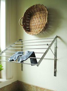 Hanging Drying Rack For Laundry Room.Inspirations: Simple Tips For Clothes Dryer Using Wall . Make This Easy Ladder Laundry Drying Rack . Wall Mounted Laundry Drying Rack Unfinished And Ready For. Home and Family Wall Mounted Drying Rack, Hanging Drying Rack, Laundry Room Drying Rack, Drying Rack Laundry, Clothes Drying Racks, Laundry Room Organization, Laundry Room Design, Clothes Hanger, Household Tips