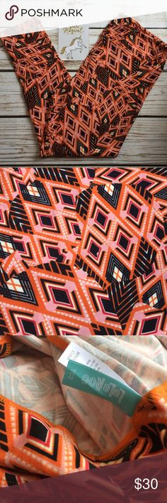 🖤🎀Aztec TC2 in orange/ black & pink size 18+ NWT 🇺🇸Single Item is as pictured accessories and shoes not included.  🇺🇸See sizing chart for details.  🇺🇸No trades.  🇺🇸Bundle two or more items to save on shipping!  ❤️Colors may vary based on lighting such as darker or lighter.  😉Thank you for the likes, shares and kindness! 😘 LuLaRoe Pants Leggings