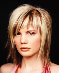 Medium Length Chopped Hairstyles #ChoppedHairstyles #Hairstyles