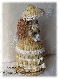 Поделка изделие Вязание крючком Плетение 3 года моему хобби Трубочки бумажные фото 12