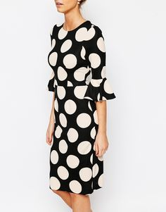 Image 3 of Coast Maralynn Textured Spot Dress in Blush