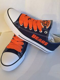 Chicago bears unisex tennis shoes please read by sportzshoeking