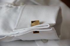 Golden mirrored cufflinks