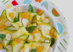 Roasting the apricots brings out their flavor and sweetness. A tangy apricot dressing over strips of zucchini is a quick and delicious summer meal. Raw Zucchini Salad, Small Baking Dish, Savory Salads, Dried Apricots, Fresh Mint, Summer Recipes, Vegan Recipes, Meals, Supreme