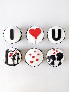 "These are precious. ""sabores da gula: Cupcakes - I Love U"" #cupcakes http://www.pinterest.com/lilyslibrary ❤"
