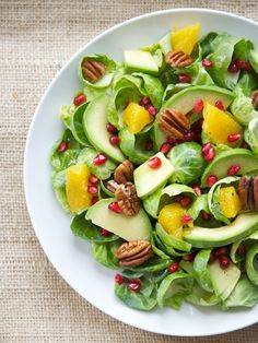 Brussels Sprouts, Avocado, Citrus Salad