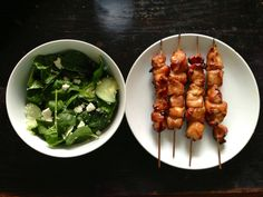 Looks great. Can't find the recipe though.. possibly honey/soy sauce chicken kabobs??