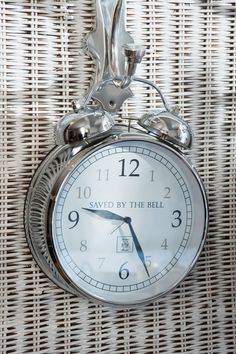 Love the idea of hanging the clock on a hook