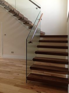 walnut floating staircase - Google Search