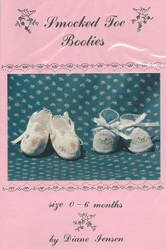 Smocked Toe Bootie - smocked toe bootie, diane jenson smocked toe bootie pattern, patterns for smocked booties, Smocking Baby, Smocking Plates, Smocking Patterns, Baby Sewing Tutorials, Baby Sewing Projects, Sewing Ideas, Smocked Baby Clothes, Childrens Sewing Patterns, Shoe Pattern