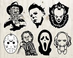 Horror Movie Tattoos, Horror Movie Characters, Halloween Horror Movies, Scary Movies, Horror Drawing, Horror Art, Halloween Drawings, Halloween Art, Halloween Things To Draw