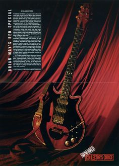 Brian May's Red Special Guitar Poster Queen di MusicSellerz