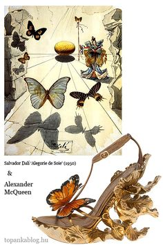 Painting by Salvador Dalí, shoes by Alexander McQueen