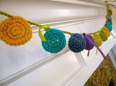 Crocheted Circle Garland  Ask a Question $20.00 USD. USA