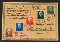 WEIMARER Republic 1924-1932, wide over 200 documents with a large number better frankings, many semi-postal stamps, some se-tenants, good portion foreign mail (many to USA) with unusual destinations (amongst other things British Guiana, Costa Rica, Hawaii, Japan), insuranced- and registered covers, package cards, service and authorities postal service, airmail, Sling flight, sea mail, Navy Ship Post, forwardings, foreign postage due. Nearly exclusieve legitimate postage, some nice…
