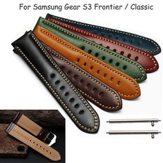 Genuine Leather Band Bracelet Strap For Samsung Gear S3 Frontier / Classic lot | Jewelry & Watches, Watches, Parts & Accessories, Wristwatch Bands | eBay!
