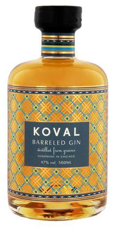Barrel Aged Gin der Marke KOVAL aus Chicago - ein Fassgelagerter Gin mit feinen Holznoten
