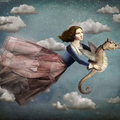 """Voyage in the sky"" Digital Art by Christian Schloe posters, art prints, canvas prints, greeting cards or gallery prints. Find more Digital Art art prints and posters in the ARTFLAKES shop. Art Du Monde, Photo D Art, Max Ernst, Magic Realism, Magritte, Canvas Prints, Art Prints, Wassily Kandinsky, Art And Illustration"