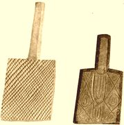 Cherokee stamping paddles,used to imprint designs in pottery Native American Cherokee, Native American Pottery, Native American Artifacts, Native American Indians, Cherokee Indians, Native Americans, Clay Stamps, Pottery Tools, Ceramic Techniques