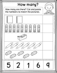 Math Worksheets Kindergarten Kg 1 Maths Pdf Free Printable Match It