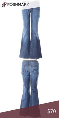 """Citizens of Humanity Ingrid Jeans Size 27 Super low rise boot leg cut jeans from Citizens of Humanity size 27.  Inseam 32"""". 98% cotton 2% polyurethane Citizens of Humanity Jeans Boot Cut"""